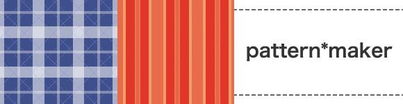 チェックなどのパターン画像を作成する「pattern*maker」を制作、公開しました