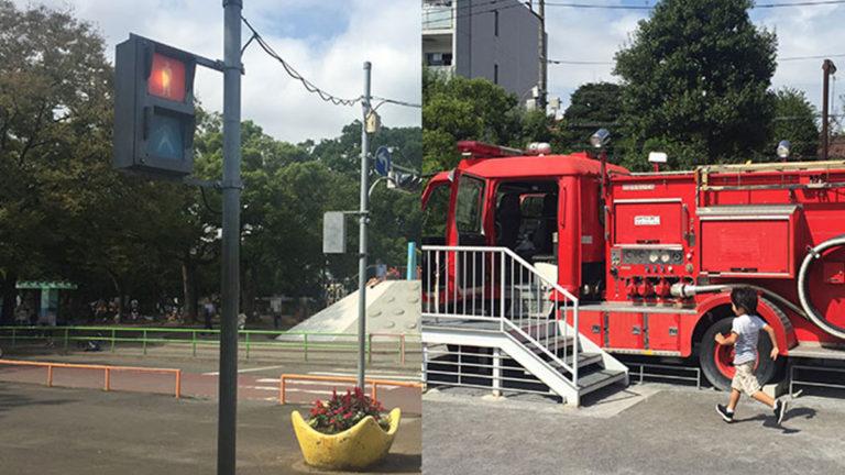 画像)【子連れおでかけ】消防車が遊具に?萩中交通公園がすごかった話