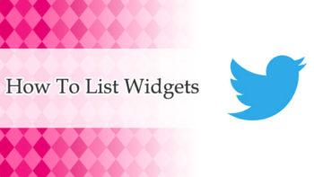画像)【Twitter】複数IDを1つのウィジェットで表示できる「リストウィジェット」を使ってみた